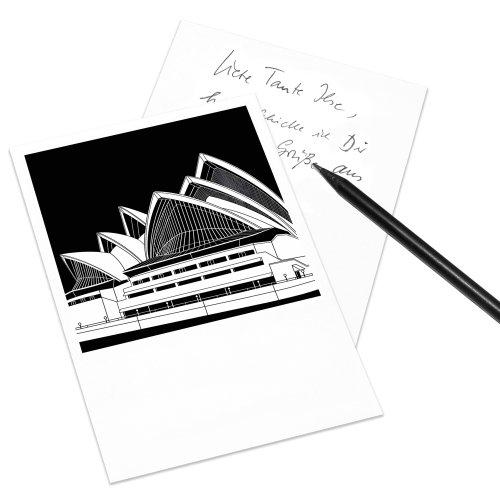 COGNOSCO Postkarte Stadtgrafiken im Polaroid-Look - Motiv: Sydney, Opera House
