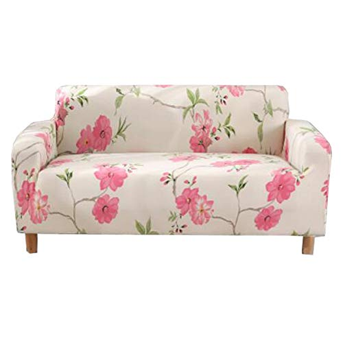 Chinashow - copridivano a 3 posti, in tessuto spandex, con motivo a fiore, colore: rosa