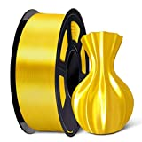 SUNLU 3D Filament 1.75, Shiny Silk PLA Filament 1.75mm, 1KG PLA Filament 0.02mm for 3D Printer 3D Pens, Yellow