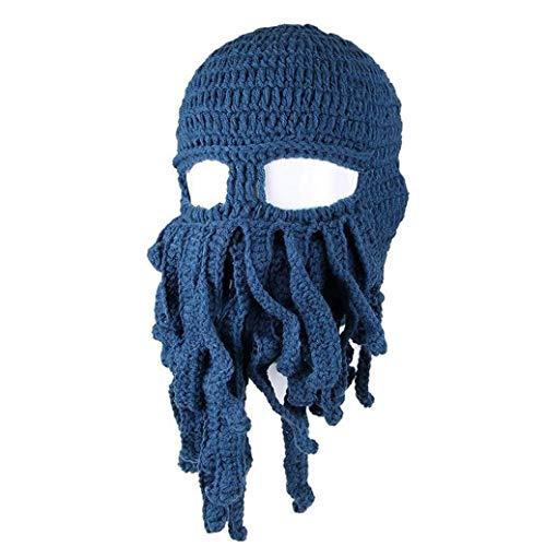 Snner Lustige Krake Tentakel Balaclava Knitting Kopfbedeckung Kostüm Schädel-Hut-Wind-Masken-Cap Wollmütze Für Motorrad-Skelett