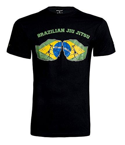 OKAMI Fightgear Herren Shirt Fist Bump 2.0 T-Shirt schwarz/Grün