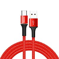 Baseus Halo Type-C 3A 1m. Kablo, Kırmızı