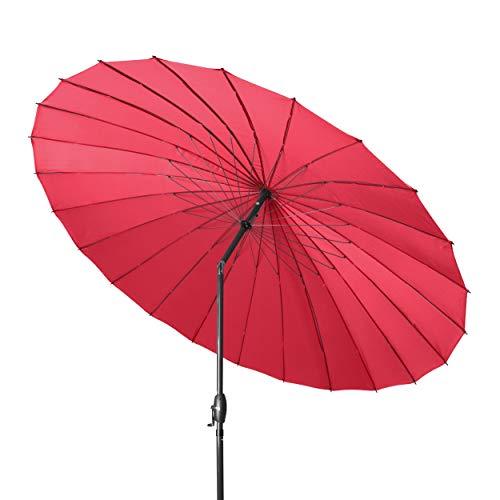 derby SHANGHAI II 270 - Hochwertiger Alu Sonnenschirm ideal für den Garten - Witterungsbeständig - ca. 270 cm - Rot