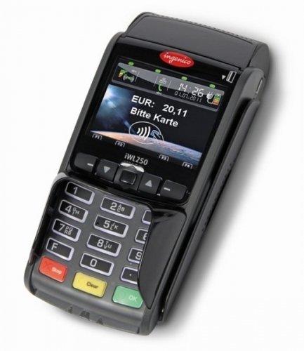 mobiles EC Kartengerät IWL250 GPRS/GSM, optional mit Datenkarte (SIM), inklusive Gutschein -Funktion, inklusive 25 eigene Gutscheinkarten (über das Terminal aufladbar)