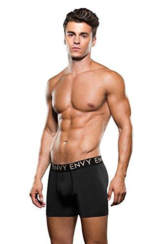 Baci Envy Collection Unterhose, Boxer-Short, Mikrofaser, tiefsitzend, schwarz, Figur betonend, gute Passform, M/L