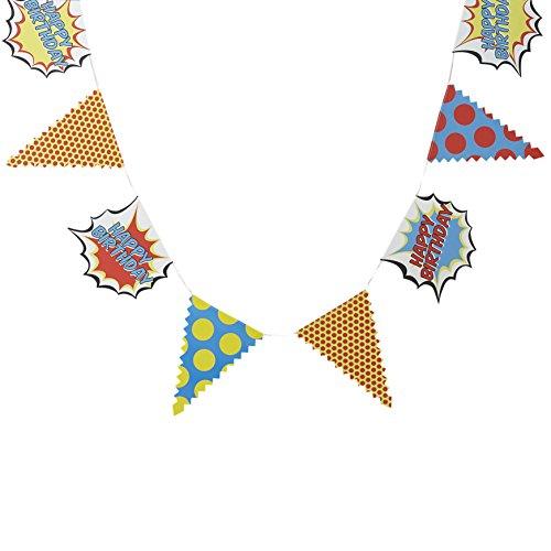 uperhero Party-Boxen (5Stück), gemischt hängender Banner gemischt ()