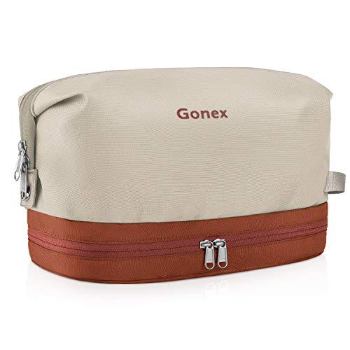 Beige Haken (Kulturtasche für Damen und Herren, Gonex Kosmetiktasche Reise Waschtasche mit Tragegriff und Haken, beige)