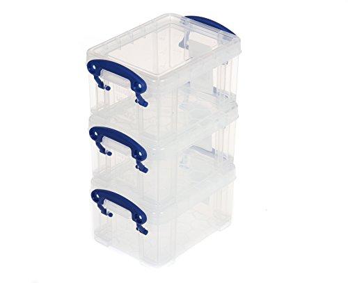 Really Useful Box 0,3Liter, 3Stück Sortiert-Farbe: Klar - Büromöbel-sortiment