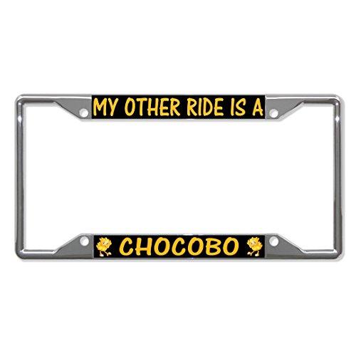 Fastasticdeals My Other Ride is A Chocobo Nummernschildhalter, Metall, 4 Löcher