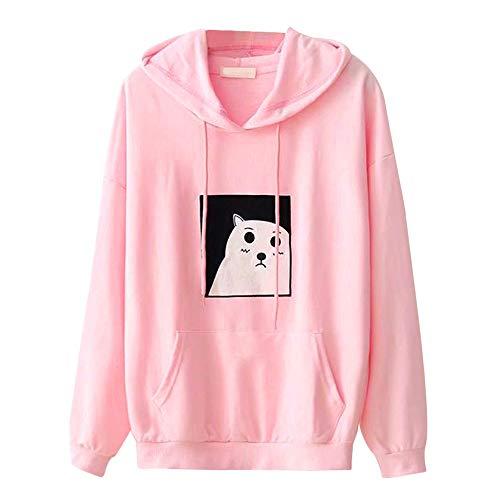 Kostüm Flash Cat - TWIFER Damen Hoodie Pullover Kapuzen Tasche Kapuzenpullover Langarm Shirt Sweatshirt