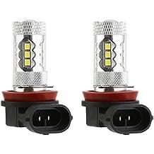CICMOD 2 x H11/H8 80W 2835 16SMD Universal Bombillas LED para Luz Antiniebla de Coche, Luz Diurna de Conducción Super Brillante Blanco