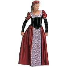 Widman - Disfraz de princesa medieval para mujer, talla XXL (S/4223C)