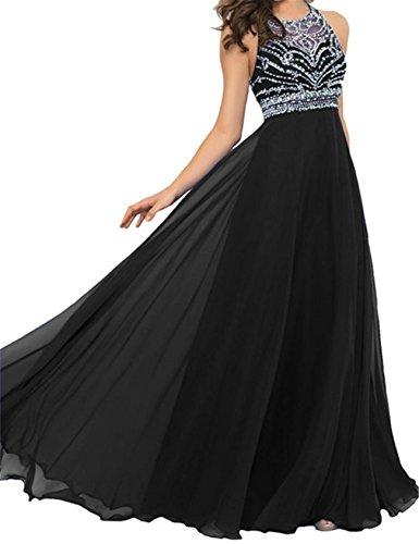 Adodress Gorgeous a-line bodenlangen Chiffon Promkleider Abendkleider Ballkleid (1920er Kleider Jahre Billig)