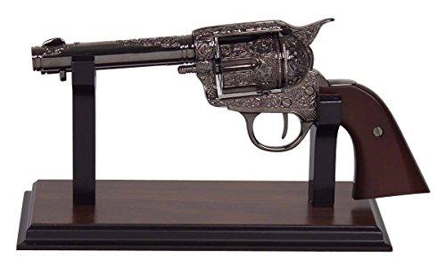 Pistolen-Ständer für Colts Holz mit Filz (ohne Colt)