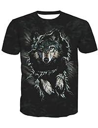 Wehor 3D Camisetas para Hombre Manga Corta Casual Camisa de Polo Algodón  Suave Secado Rapido Sudadera 8f1da9b2d20