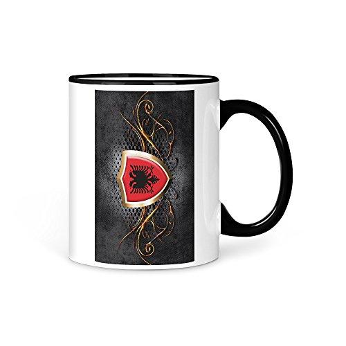 Tasse Kaffeetasse Albanien Fahne 4