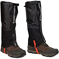 Weanas Unisex Adult Outdoor Mountain Snow Legging Gaiters, More Durable Windproof Waterproof Warmth Shoes Cover, (New Black, L)