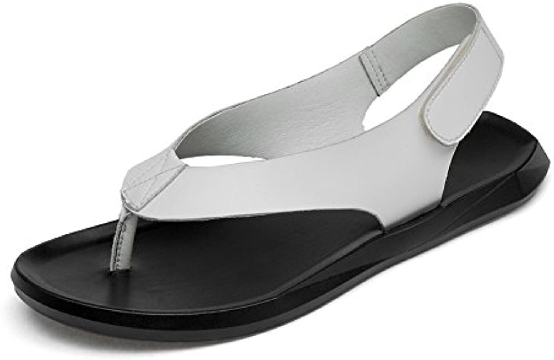 Juans shoes  Herren sandalen  Herren Classic Echtes Leder Strand Hausschuhe Casual Haken  LoopStrap GeschlosseneJuans shoes Hausschuhe LoopStrap Geschlossene rutschfeste