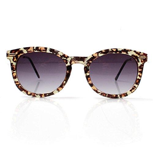 Accessoryo - dessinées conception de léopard soleil wayfarer lunettes unisexes claires avec bras métalliques 5rvmId0pm