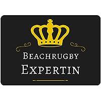 Mousepad Beach Rugby esperta Nero