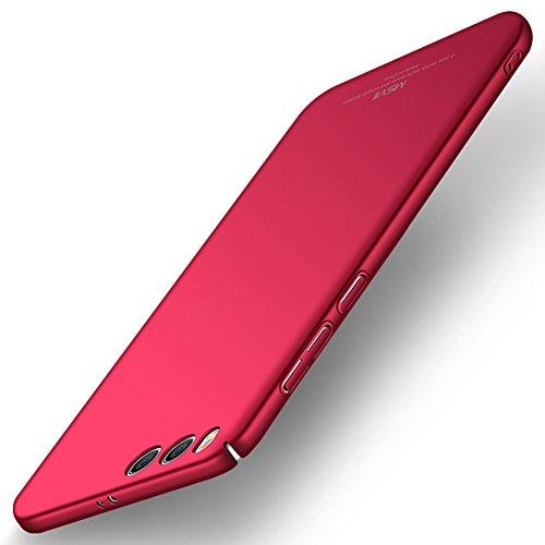 Xiaomi Mi 6 Hülle, MSVII® Sehr Dünn Hülle Schutzhülle Case Und Displayschutzfolie für Xiaomi Mi 6 - Lila JY00298 Rot