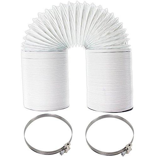 Extra long Tuyau d'aération 10 m + Colliers de serrage pour Howdens Lot sèche-linge (10,2 cm/100 mm)