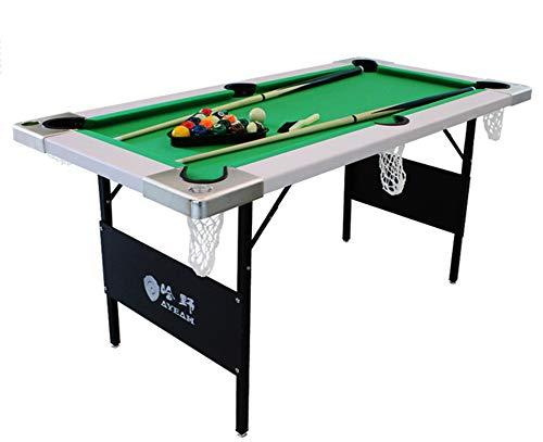 Billard Table Faltungspool Steady Modern Space Sparen Billard Table Game für Kinder und Erwachsene mit Cues, Ball, Kreide, Rack, Brush Green