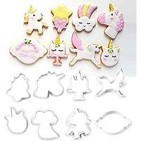 Ruikey 8PCS Molde Galletas Unicornio Moldes para Tartas,Alimentos,Fondant,Tartas,Herramientas