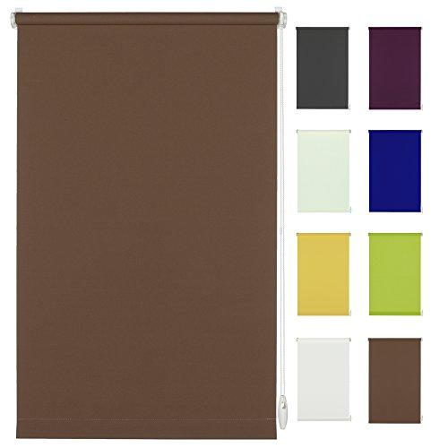 "Klöckner, tenda a rullo ""klemmfix"" senza fori, facile da montare, tessuto, cioccolato, 100 x 150 cm"