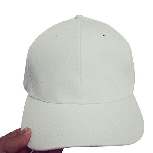 Liebe Bent Cap Baseball Cap Baumwollbaseballmütze-Hysteresen-Kappen Hip Hop-Hüte (Weiß) (Dallas Cowboy Stroh Hut)