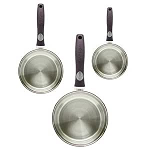 aubecq 305001 cyril lignac s rie 3 casseroles inox cuisine maison. Black Bedroom Furniture Sets. Home Design Ideas