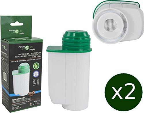 2 x FilterLogic CFL-901B cartuccia filtrante compatibile con BRITA Intenza TCZ7003 - TZ70003 - TCZ7033 (Bosch Serie 700)