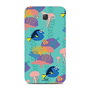 Hamee Disney Pixar Finding Dory Official Licensed Designer Cover Hard Back Case for Samsung Galaxy On5 / On 5 (Dory Marlin / Full Print)