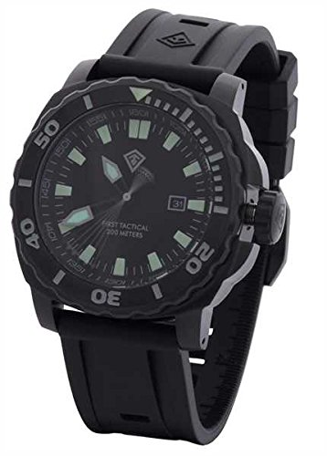 First Tactical Fathom Dive Watch Schwarz, Schwarz