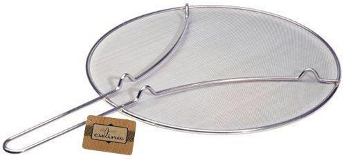 Culina 33cm Pfannen Spritzschutz, Feines Edelstahl Netzgewebe. Standfüße
