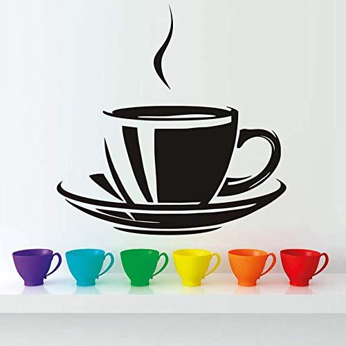 zqyjhkou Große Kaffeetasse Vinyl Wandaufkleber Für Küche Moderne Wohnkultur Lösbaren Tapeten Esszimmer Wandkunst Aufkleber Für Resta44x29 cm