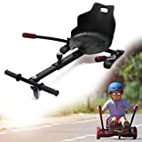 WilTec Siège de Scooter Noir Kart électrique Hoverboard Adulte Enfants Compatible avec Tous Les Hoverboards