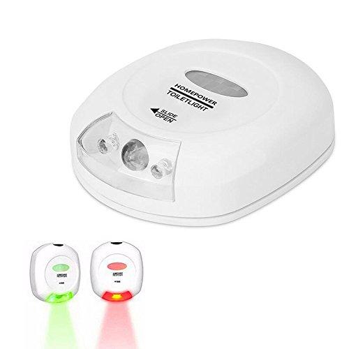 Preisvergleich Produktbild WC Licht LED Sensor Bewegung Aktivierte Toilette Nachtlicht Energieeffiziente batteriebetriebene Toilette Badezimmer Navigation Nacht Lichter Lampe mit rotem und grünem Licht