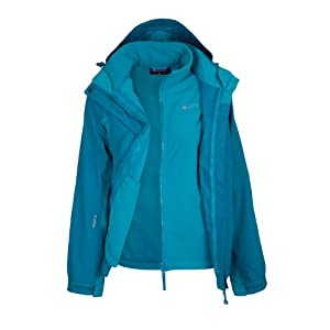 mountain warehouse storm 3 in 1 womens waterproof jacket - multiple pockets, detachable fleece ladies jacket, rain jacket - ideal all season outer in cold weather