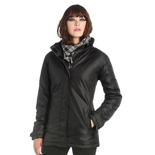 Neue B & C Real Damen Parka Damen Jacke, wasserdicht, für Einzelbetten Blau - Navy