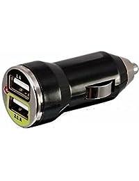 Vanda®-Chargeur voiture USB 5V 3.1Amp 15.5W - 1.0A et 2.1A double Universal Ports Alimentation pour Apple iPod, iPhone , iPad , téléphones portables et Tablet , tous les appareils Android , mobile Chargeur de Voyage intelligent Mini - noir