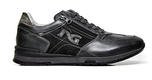Sneaker Uomo in Pelle Grigia A604331U-101 - Nero Giardini , 44