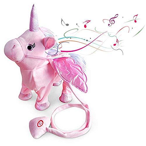 FOONEE Electronic Walking Unicorn Toy Sing & Dance Unicorn Animali di Peluche Giocattoli di Peluche Carino Unicorno Peluche interattivo per Ragazzi Regalo Meraviglioso Rosa