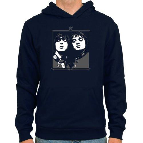 Pixda Sudadera Pete Doherty & Carl Color: Azul Oscuro ::: Tallas: S-XXL