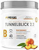 TUNNELBLICK 2.2 | Power • Fokus • Pump | Pre Workout Booster | DAS ORIGINAL von ProFuel ® | Pump Booster mit Guarana, Beta-Alanin & Tyrosin | 360g - 40 Portionen | ICE TEA PEACH (Eistee Pfirsich)