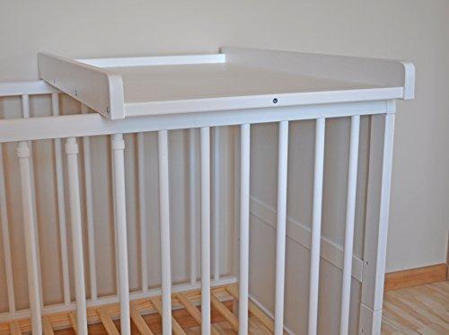 WickelbrettWickeltischWickelaufsatz für Betten 140x70 und 120x60 cm weiss