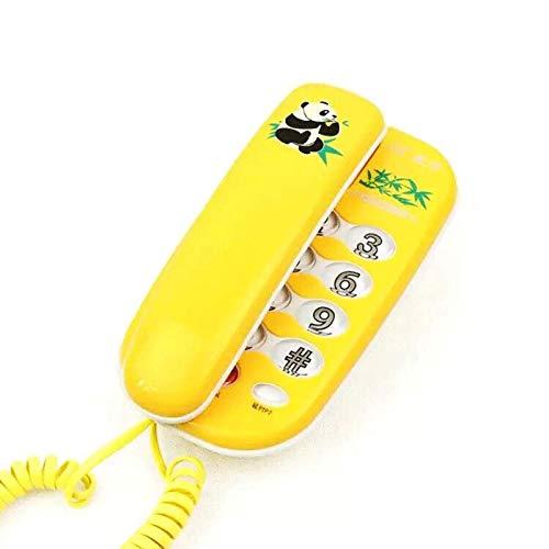 OUSAI Mode-Kreativität-örtlich festgelegtes Telefon an der Wand befestigtes Haushalts-MiniCartoon Landline Super Bright Night Light (Farbe : Hellgelb)