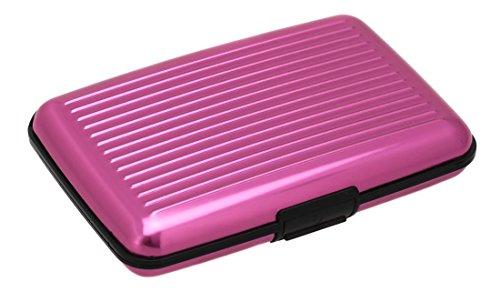Aluma wallet / Aluma Aufbewahrungsetui in - Praktischer Organizer und Schutz für Ihre Karten und Ausweise (Pink)