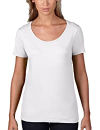 Anvil Women's Sheer Scoop Neck Short Sleeve T-Shirt