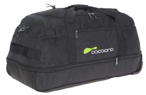 2er SET: COCOONO Trolley Reisetasche TWISTER 80 cm - 136 Liter zusammenlegbar + Packtasche + 3 Kosmetikbeutel / ROT Black